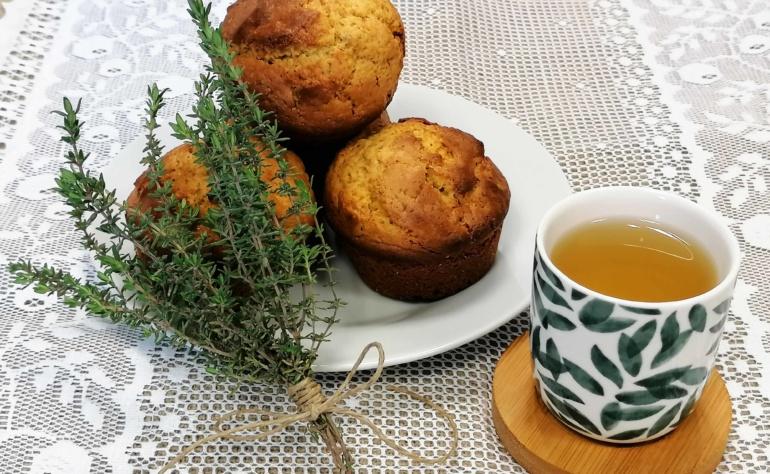 Muffins au thym et au miel