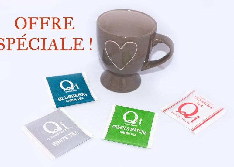 Promotion sur une gamme de thés QI