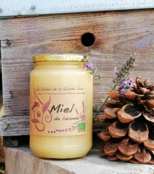 Miel de lavande bio des Jardins de la Goutte d'eau, en Ardèche