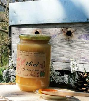 Miel toutes fleurs bio des Jardins de la Goutte d'eau, en Ardèche